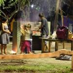 BBQ-en op de camping Isla in Choele Choel