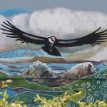 Een condor uit de muurschildering 'Moeder Aarde'