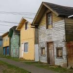 Typisch Chileense houten huizen