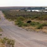 Uitzicht vanaf Ch?'s route over de vallei van de Rio Negro