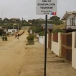 Zoals in zoveel plaatsen ook hier Tsunami vluchtroutes